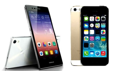 huawei ascend p7 vs apple iphone 5s which is the better