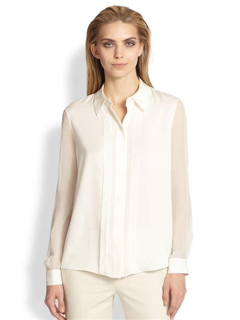 white sheer silk blouses for women white sheer silk blouses for women joie marru semi sheer
