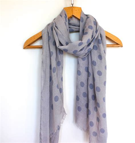 feint spotty scarf by the forest co notonthehighstreet