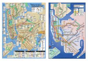 New York City Train Map by About The Kick Map