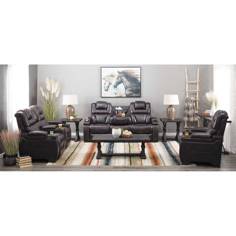 reclining sofa with drop table warnerton power reclining sofa with drop table 7540715