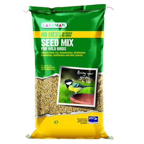 20kg gardman no mess seed mix wild bird food feed a05560