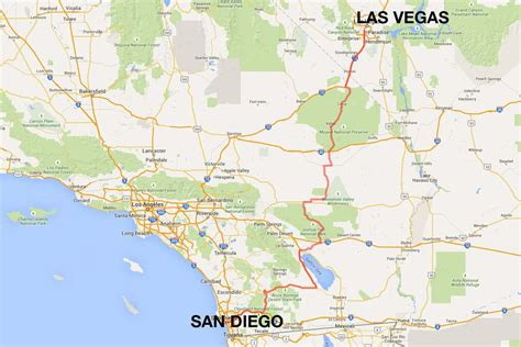 california map las vegas san diego to las vegas 4 ways to travel