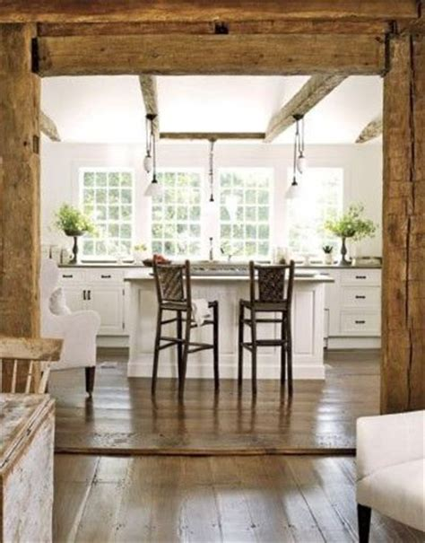 exposed wood beams white kitchen with exposed beams and timber kitchens