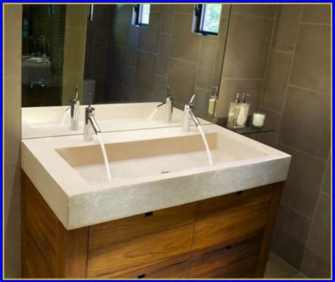 kohler trough sink bathroom bathroom trough sink double faucet bathroom home