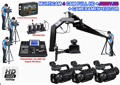 Harga Clearcom Wireless paket multicam 4 pxw x70 jimmyjib cameramen