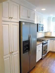 kitchen cabinet around refrigerator car tuning