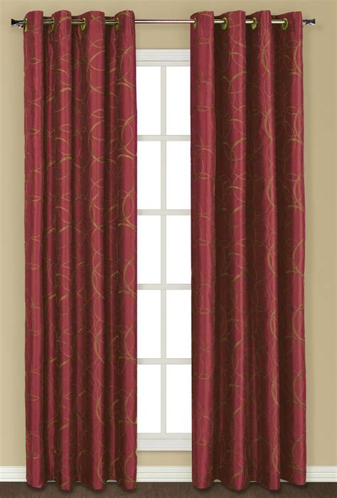burgundy curtain panels sinclair lined grommet curtain burgundy united curtain