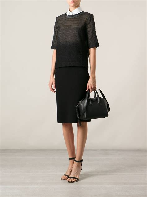 Givency Antigona Mini givenchy mini antigona tote in black lyst