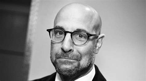 bald actor with white beard stanley tucci emmy award winning actor famous bald