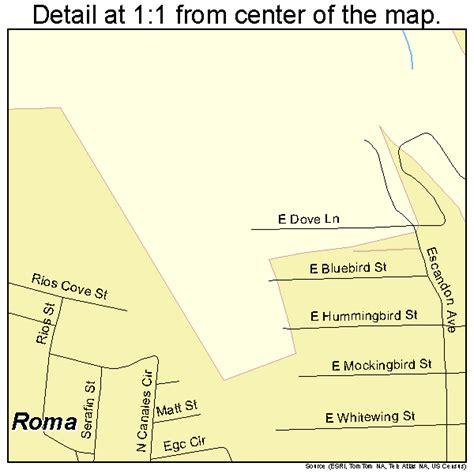 roma texas map roma texas map 4863020