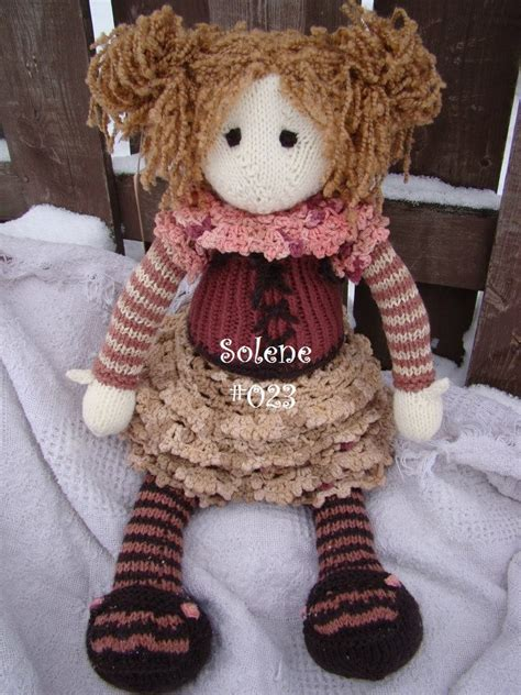 knitted rag doll patterns solene 023 knit doll knit rag doll knitting