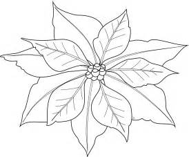 free printable poinsettia coloring pages for