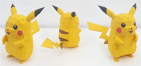 Papercraft Pikachu - papercraft pikachu by anthonyetemilie on deviantart