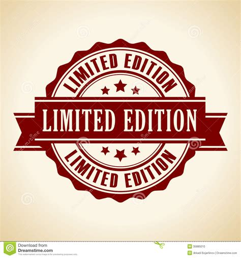 limited editions limited edition icon stock vector image of poster