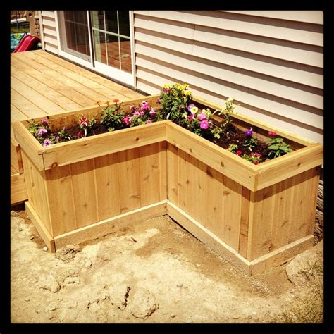 deck planter box outdoors and gardening