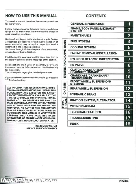 how to download repair manuals 2005 honda cr v electronic throttle control 2000 2003 honda cr125 motorcycle service manual