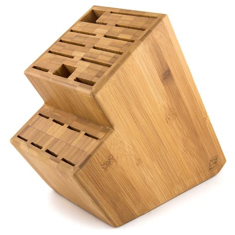 kitchen knives holder megalowmart 18 slot bamboo wood kitchen knife block stand