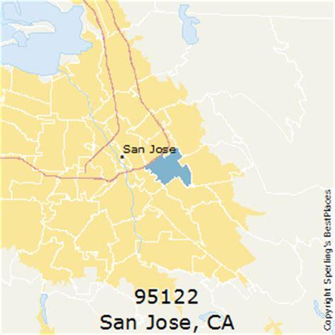 san jose map of zip codes best places to live in san jose zip 95122 california