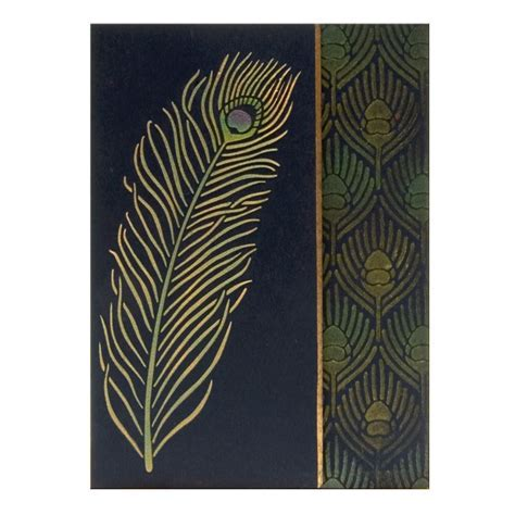 Peacock Feather Metal Stencil
