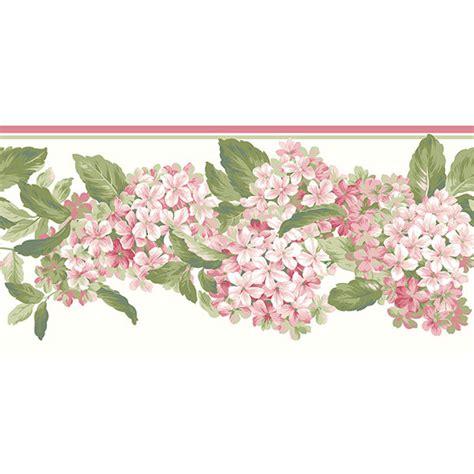 Sesame Street Wall Mural pink hydrangea border wallpaper border