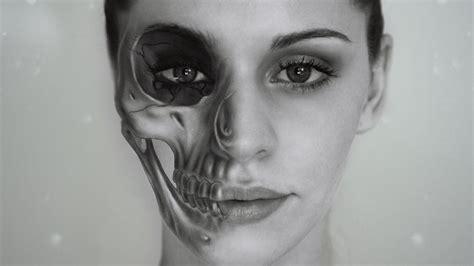 tutorial photoshop skull face half skull effect photoshop tutorial youtube