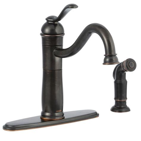 single handle kitchen faucet with sprayer moen walden single handle standard kitchen faucet with