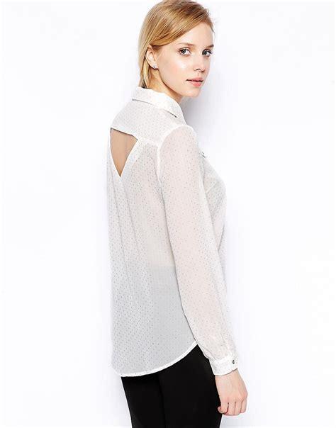 Muta55 Cut Out Blouse sugarhill boutique sugarhill boutique all that glitters blouse with cut out back at asos