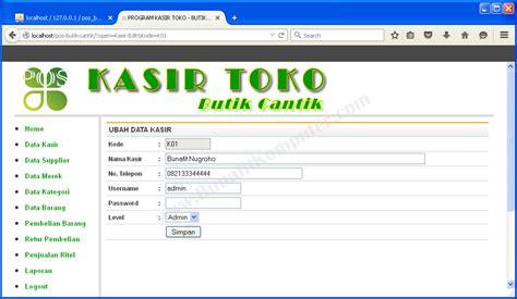 contoh desain database aplikasi koperasi contoh aplikasi sistem informasi penjualan kasir di web