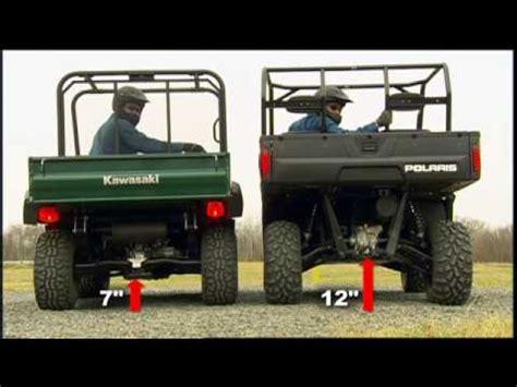 2009 polaris ranger vs kawasaki mule youtube
