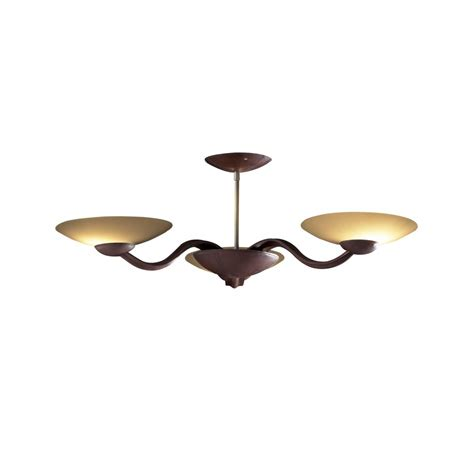 saddler leather effect low ceiling light