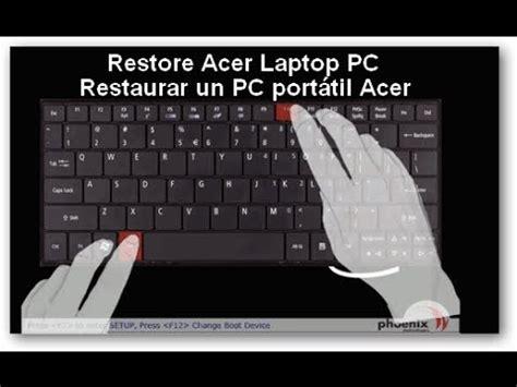 how to ║ restore reset a acer aspire e 15 to factory se