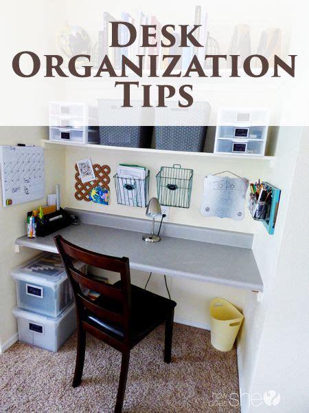 Organize Your Desk Best 25 Desk Organization Tips Ideas On Pinterest