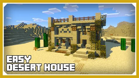 minecraft how to build a desert house tutorial easy
