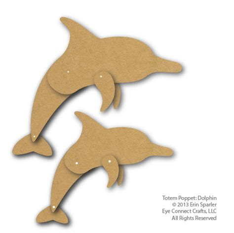 Dolphin Papercraft - totem dolphin eyeconnect crafts
