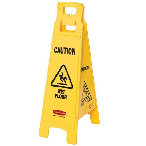 rubbermaid floor sign with caution floor imprint 4