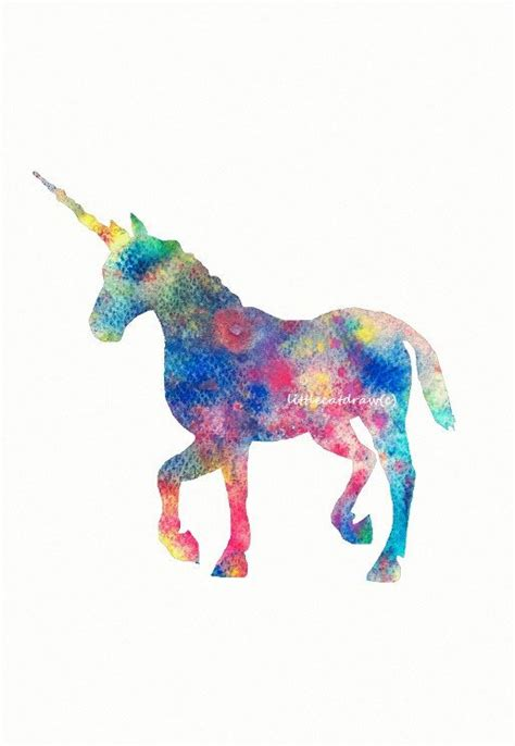 free unicorn painting colorful happy rainbow unicorn print watercolor