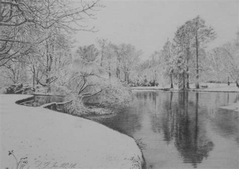 Landscape Drawing Winter Landscape 3 By Ghoghnous On Deviantart