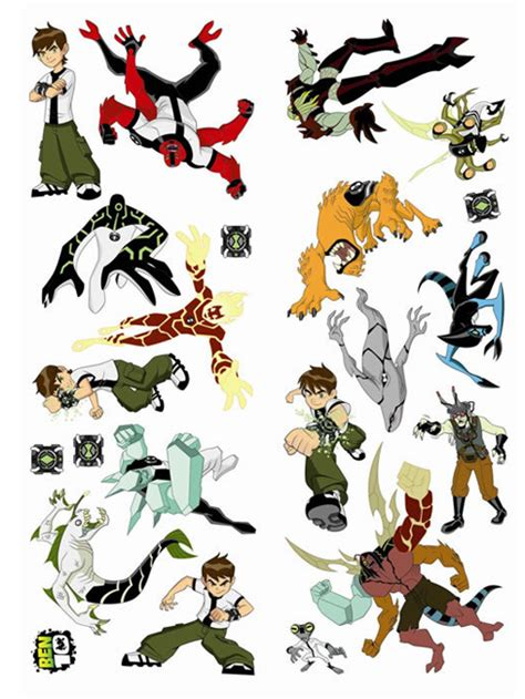 ben 10 wall stickers ben 10 wall stickers squares 3 large pieces