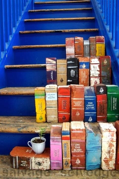 paint old bricks to look like books for your ga