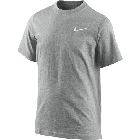 Nike Logo Shirt B C nike t shirt swoosh grey www unisportstore
