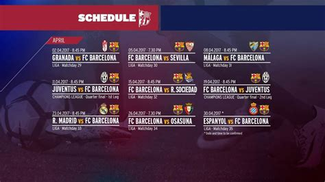 barcelona jadwal pertandingan barca lakoni 9 laga dalam 30 hari di bulan april 2017