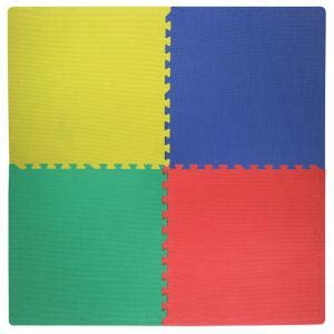 Coloured Foam Floor Mats by Best Step Primary Color 2 Ft Square Interlocking Foam