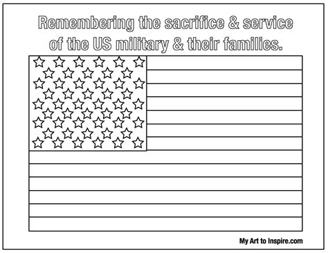 American Flag Coloring Sheet My Art To Inspire Flag Coloring Page