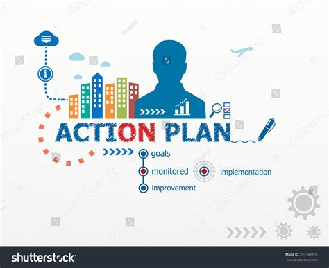 plan image action plan concept and business man flat design illustration for business consulting finance