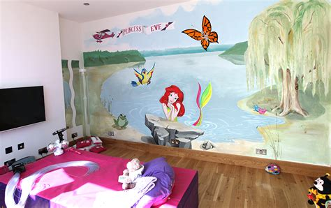 mermaid bedrooms the home touches ulianka artist wall painting for children imaginative