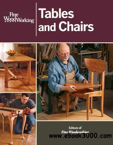 fine woodworking tables  chairs  ebooks