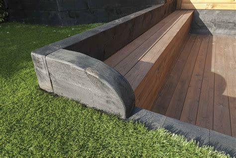 traviesas jardin jardines con traviesas de madera realizacin de jardn de