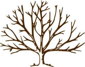 Leafless Tree Branch Outline by Bare Tree Clip At Clker Vector Clip