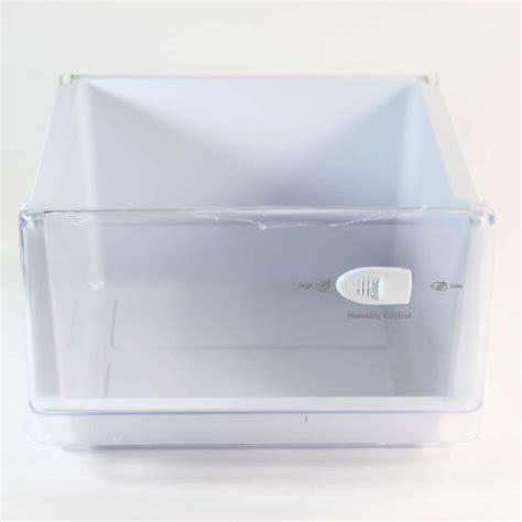 samsung refrigerator crisper drawer parts samsung rf18hfenbsp aa crisper drawer w humidity control